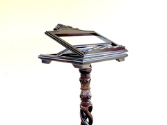 Triple Spiral Solid Wood Music Stand